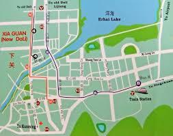 Yuan Dynasty Map Dali Ancient City Yunnan Tour Guide