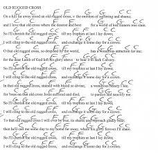 Elvis Presley Old Rugged Cross Old Rugged Cross Hymn G Major Guitar Chord Chart With Lyrics