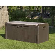 toomax santorini xl rattan plastic garden bench storage