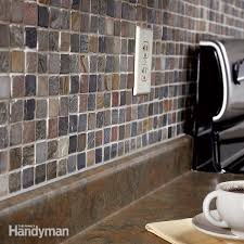 how to install a backsplash in kitchen how to tile a diy backsplash family handyman