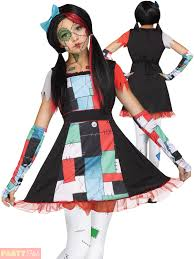age 8 16 girls broken rag doll costume halloween fancy dress teen