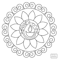 coloring pages for kids rangoli with peacock rangoli arts culture