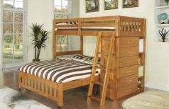 cheap bunk beds with stairs brown varnished mahogany bunk bed
