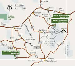 Arizona State Parks Map by Maps Coronado National Memorial U S National Park Service