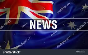 australian news news concept australia flag stock illustration