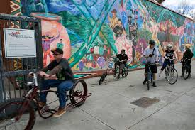 Urban Cycling Series Rolls On by San Jose Bike Tour Highlights Murals Culture