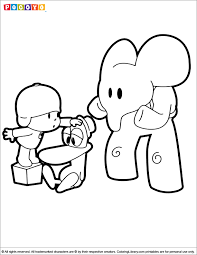 pocoyo coloring pages coloring book coloring pages