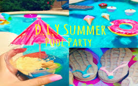 summer pool party treats diy photo booth u0026 decor youtube