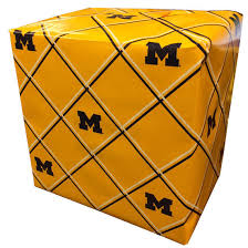 yellow wrapping paper mcm of michigan yellow plaid block m wrapping paper