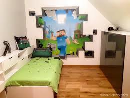 chambre sur cool minecraft stickers magnifique déco de chambre sur le thème