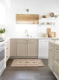 white and taupe lower kitchen cabinets flip house kitchen remodel centsational style taupe