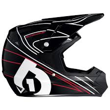 black motocross helmet sixsixone comp mx helmet black red bike24
