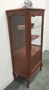 Vintage Display Cabinets A French Vintage Cherrywood Vitrine Or Display Cabinet L114