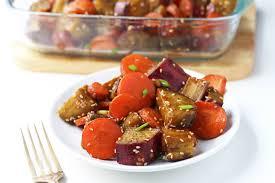 Roasted Vegetable Recipe by Honey Sesame Roasted Sweet Potato And Carrots U2022 Leelalicious