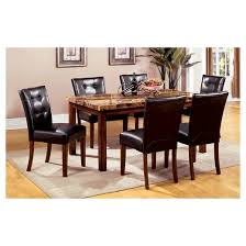 Dining Room Tables Set Sun U0026 Pine 7pc Faux Marble Top 60