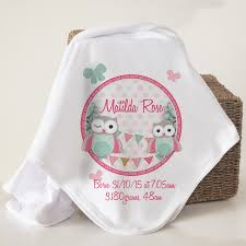 christening blanket personalized personalised organic cotton baby blankets spatz mini peeps