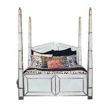 four poster mirrored bed