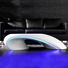 designer beleuchtung cagü design couchtisch futura weiss hochglanz led