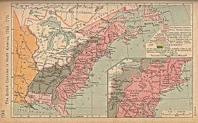 Map Of The North America by Map Of The British Colonies In North America 1763 1775 Full Size