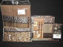 popular bath safari stripes 5 pc bathroom set shower curtain hooks