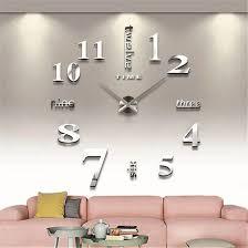 soledi diy frameless wall clock mirror number decoration craft