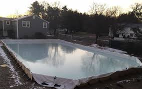 Hockey Rink In Backyard by Nicerink Backyard Ice Rink Kit Makes Your Yard The Perfect Place