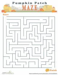 autumn maze maze worksheets and autumn