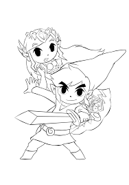 link and zelda lineart by robsoul98 on deviantart