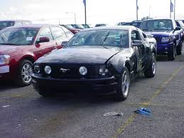 Black Mustang Crash Ouch First Wrecked 2005 Mustang Gt Muscular Mustangs