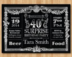 60th birthday invitation chalkboard surprise birthday men