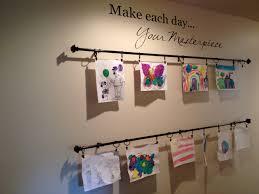 kids u0027 art gallery wall practice what you pinterest pinterest