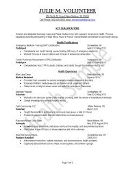 Clinical Resume Examples by Resume Samples Uva Career Center