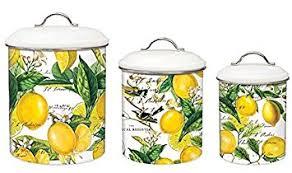 amazon com michel design works 3 piece metal kitchen canister set