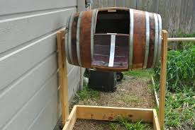 wine barrel composter from my backyard