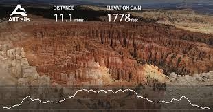 bryce map pdf trail utah alltrails com