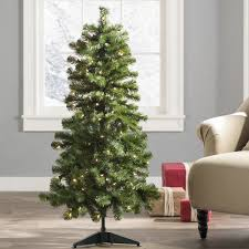 wayfair basics 4 5 u0027 green fir artificial christmas tree with 100