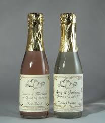 sparkling cider in bulk miniature wine bottles wedding favors mini personalized small wine