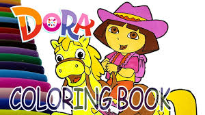 dora coloring book pages dora is riding a horse coloring book dora and friends coloring