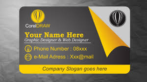 card design coreldraw tutorials business card design inspiration