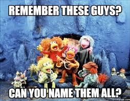 All Memes With Names - fraggle rock meme name them all on bingememe