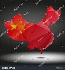 World Map China by China World Map Low Poly Vector Stock Vector 282231827 Shutterstock