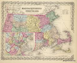 A Map Of Massachusetts by Antique Maps