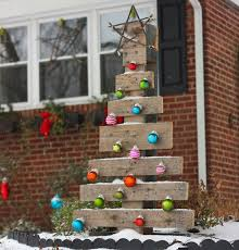 Christmas Decorations Outdoor Trees by 22 Diy Christmas Outdoor Decorations Ideas That Will Make Your