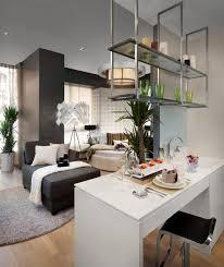 ikea studio apartment design white stool yellow bedding idea blue