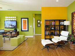 Unexpected Color Palettes Hgtv Dividing Wall And Green Color - Green and yellow color scheme living room