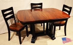 Amish Dining Room Furniture Amish Elm Dining Table Jasen S Furniture Since 1951