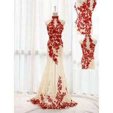 red lace prom dresses mermaid prom dress chiffon prom dresses