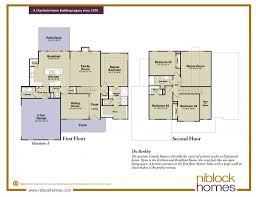 New Floor Plans by Berkley Floor Plan New Homes By Niblock Homes