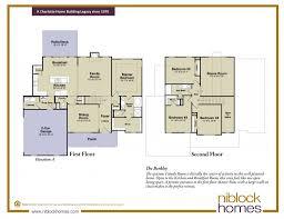 New Floor Plans Berkley Floor Plan New Homes By Niblock Homes