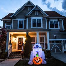 halloween inflatable shop gemmy 4 ft x 3 ft lighted r2d2 halloween inflatable at lowes com